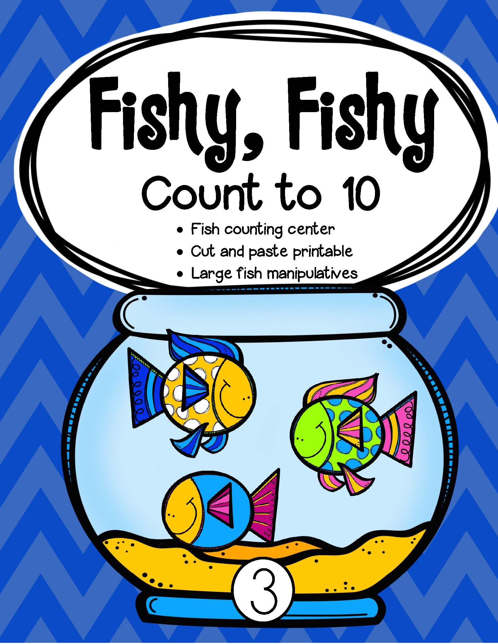 Fish Counting To 10 For Toddlers And Early Preschool