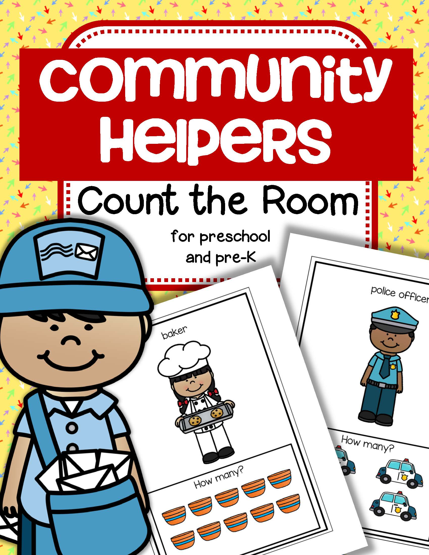 Community Helpers Count The Room For Preschool And Pre K