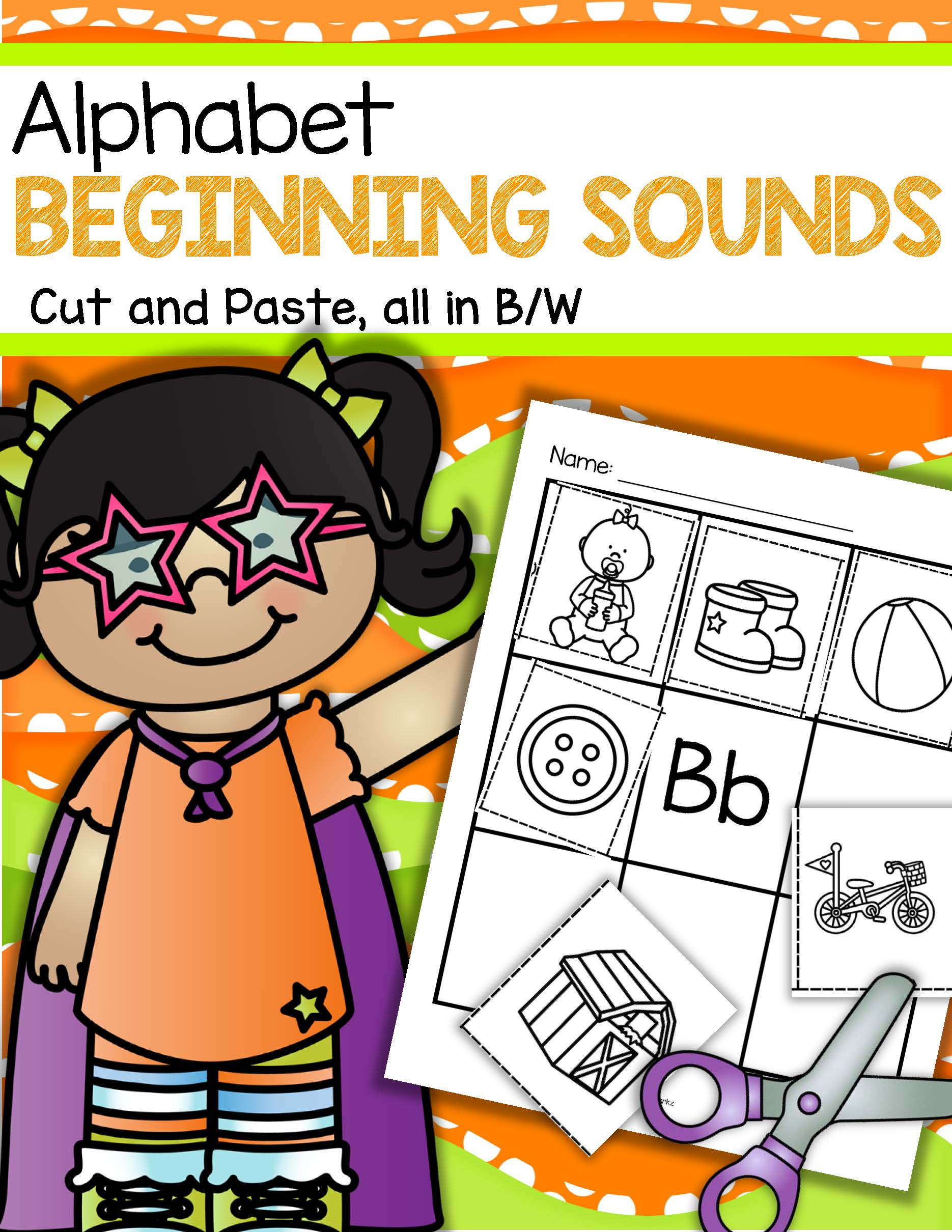 Alphabet Beginning Sounds Cut And Paste