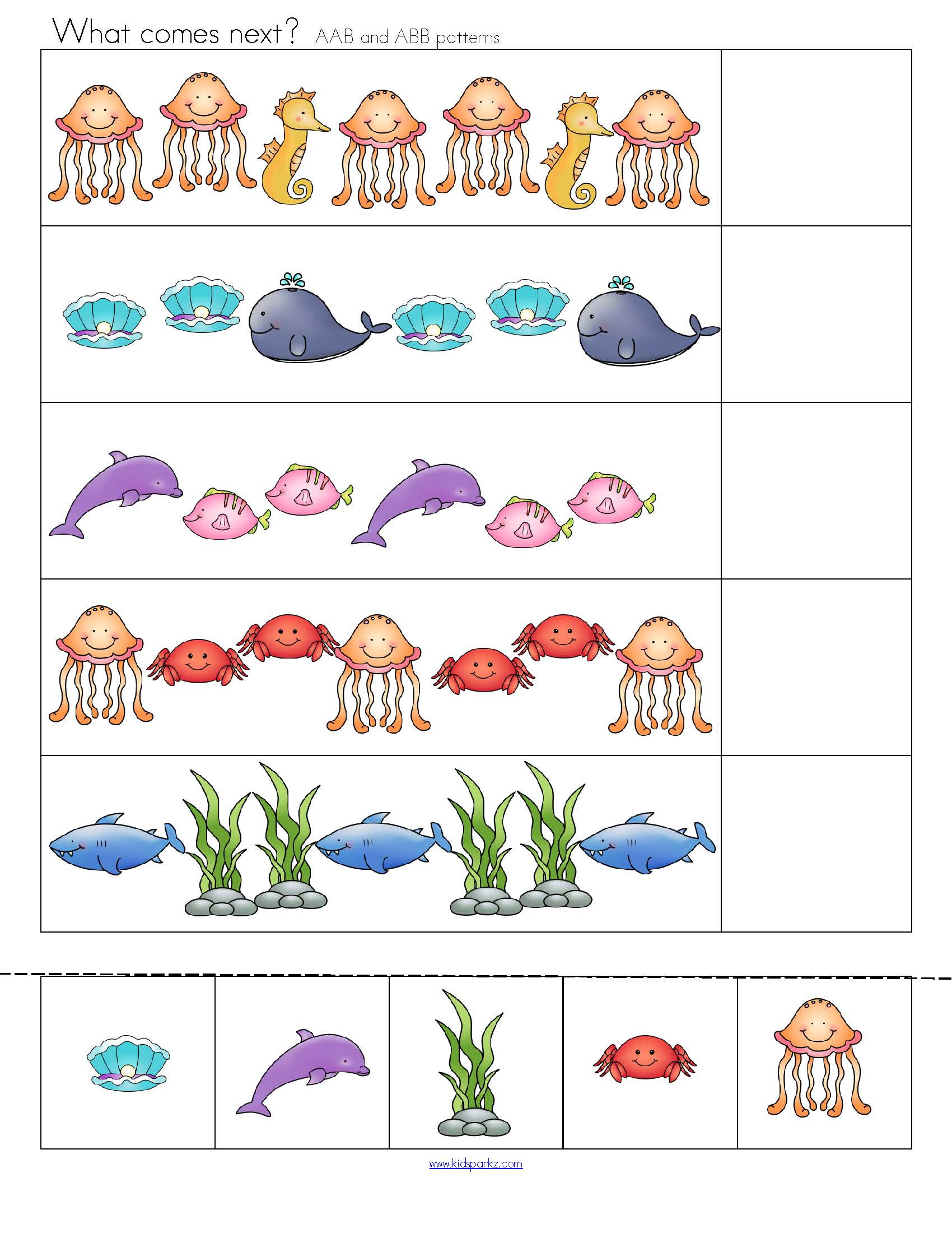 Ocean Animals Big Pack Of Printables For Centers And Games