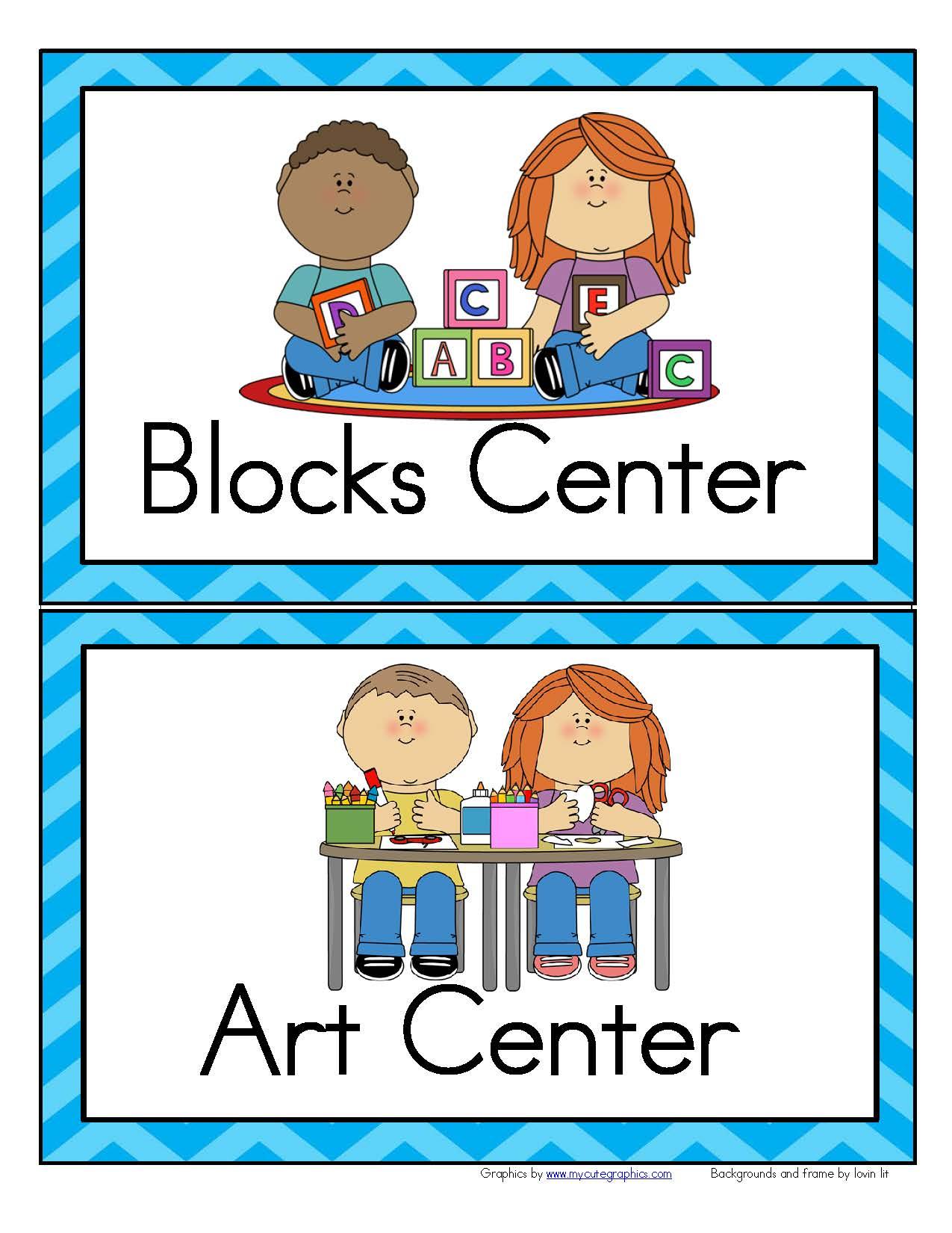 32 Center Signs For Preschool Prek And Kindergarten