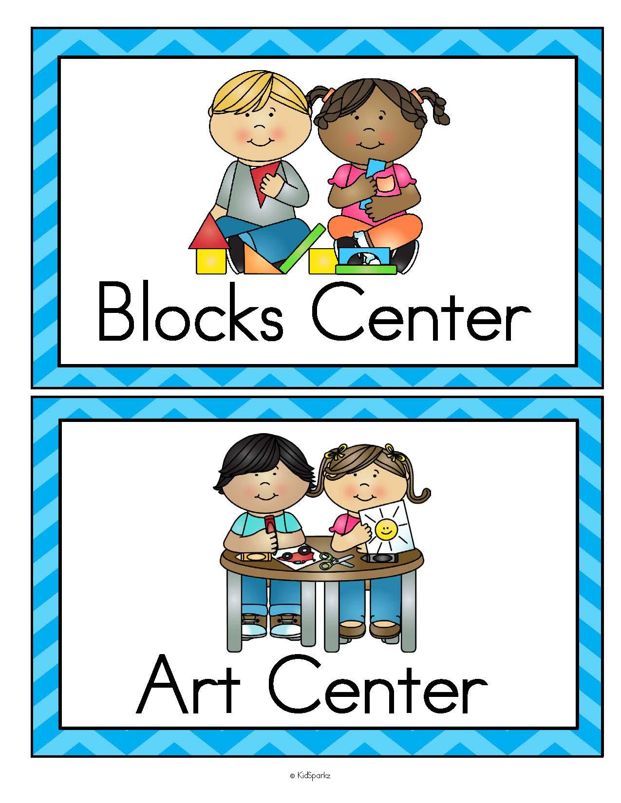 Center Signs For Preschool Prek And Kindergarten Classrooms