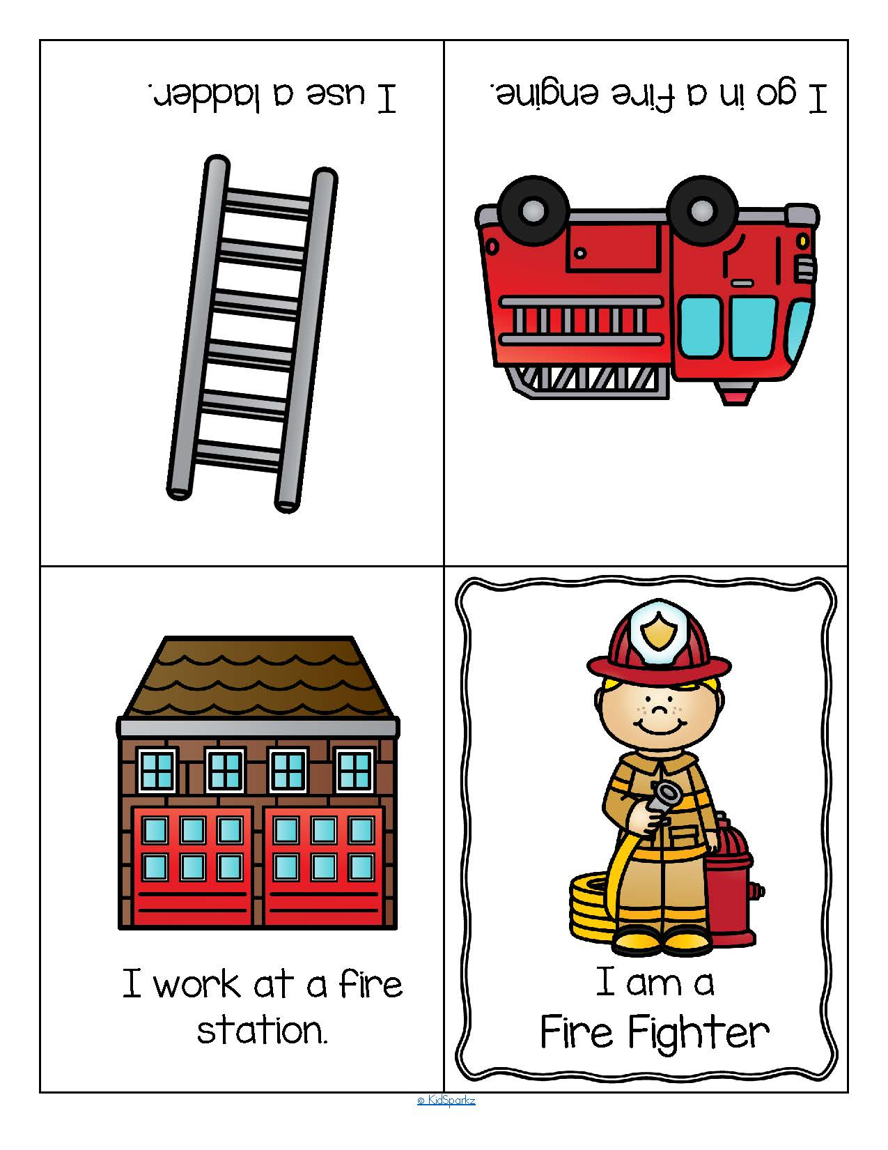 Community Helpers Foldable Booklets For Preschool And