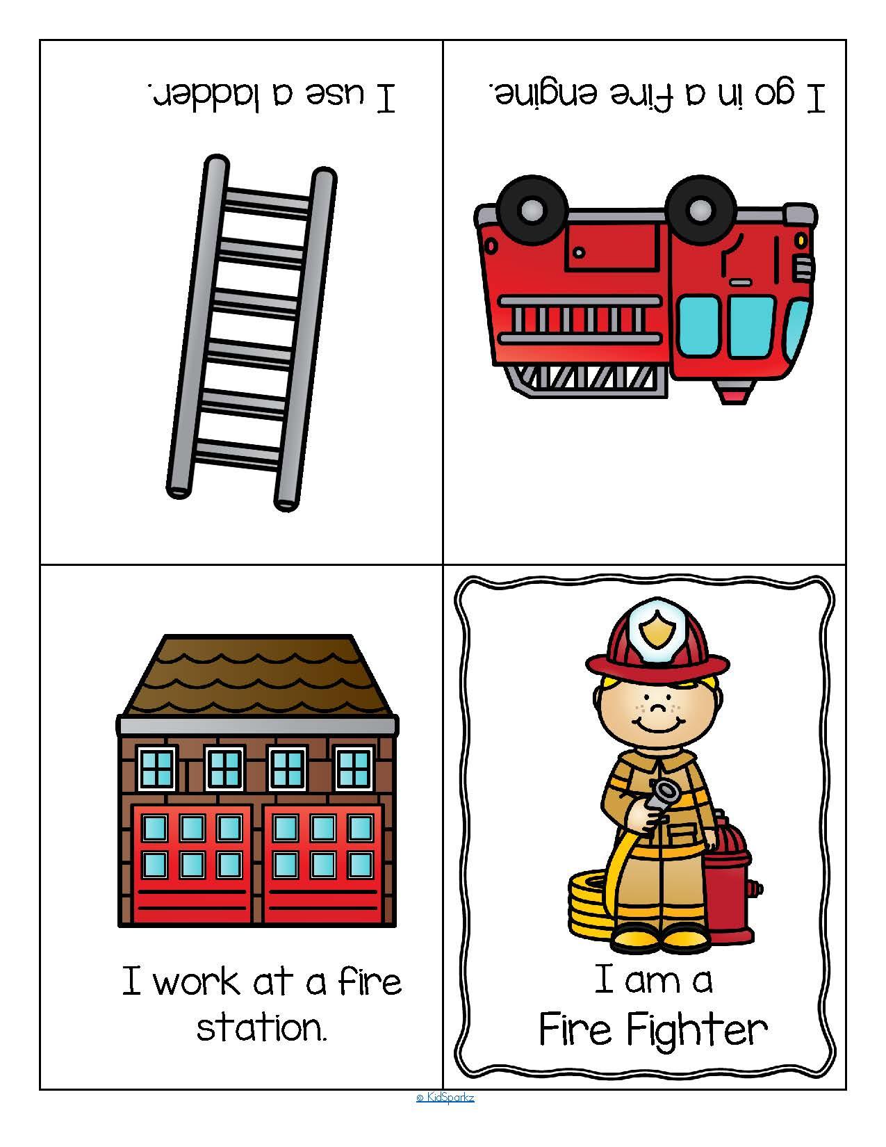 Community Helpers Foldable Booklets For Preschool And Kindergarten