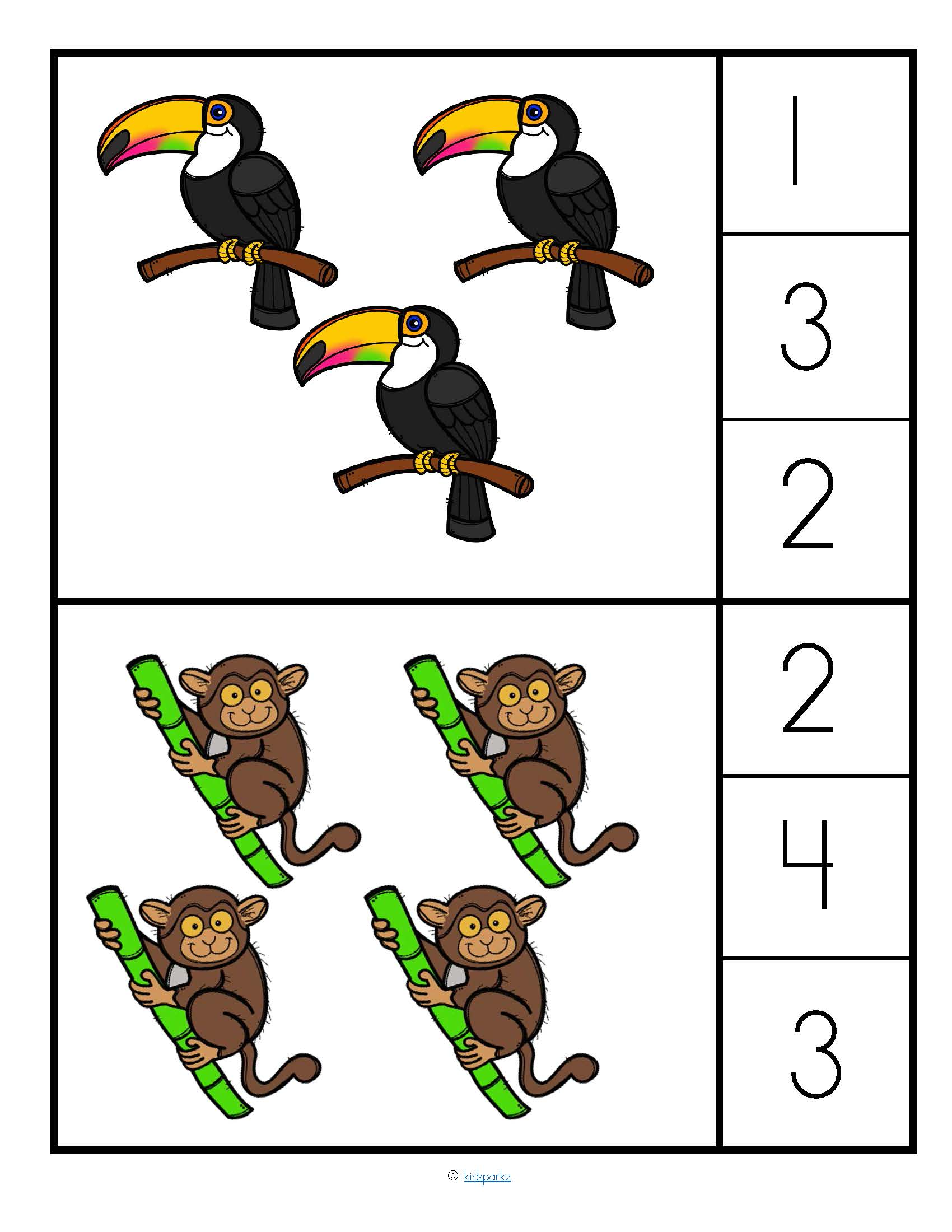 Rainforest Animals Pin The Sets 0 10