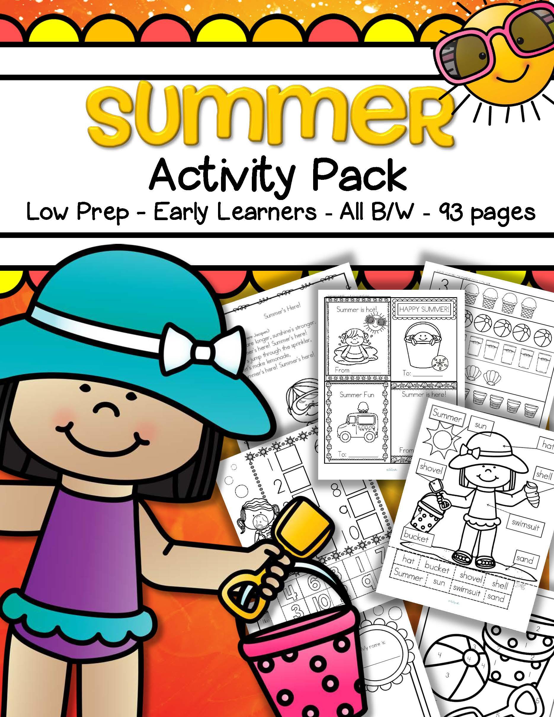 Summer Activities Printables Pack