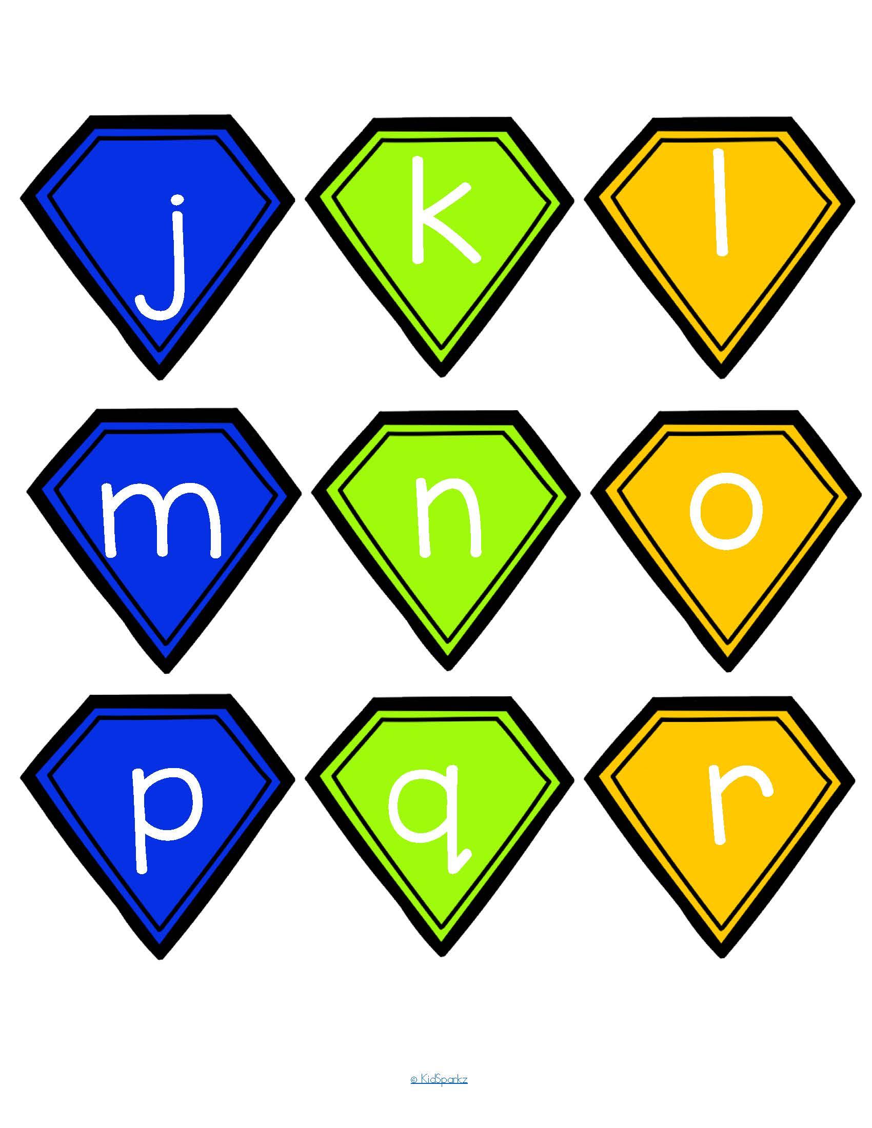 Superheroes Alphabet Matching Upper Lower Case Center