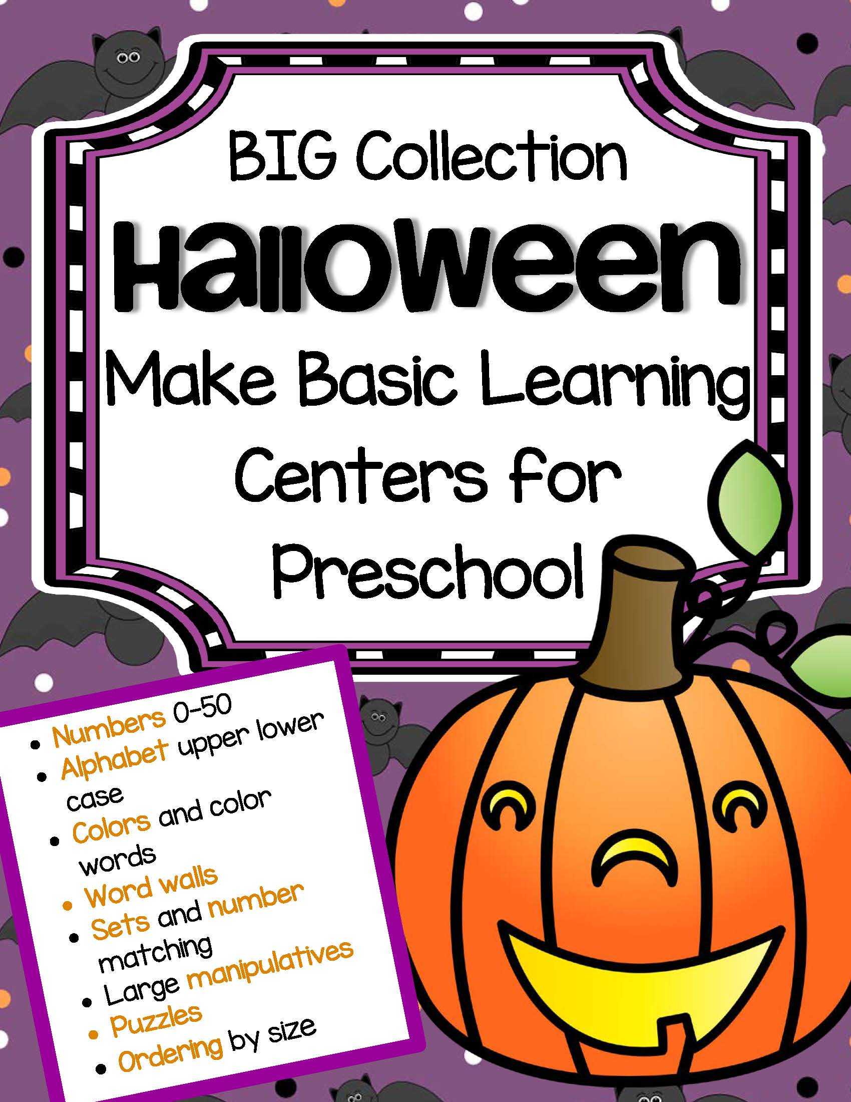 Halloween Basic Learning Centers For Preschool
