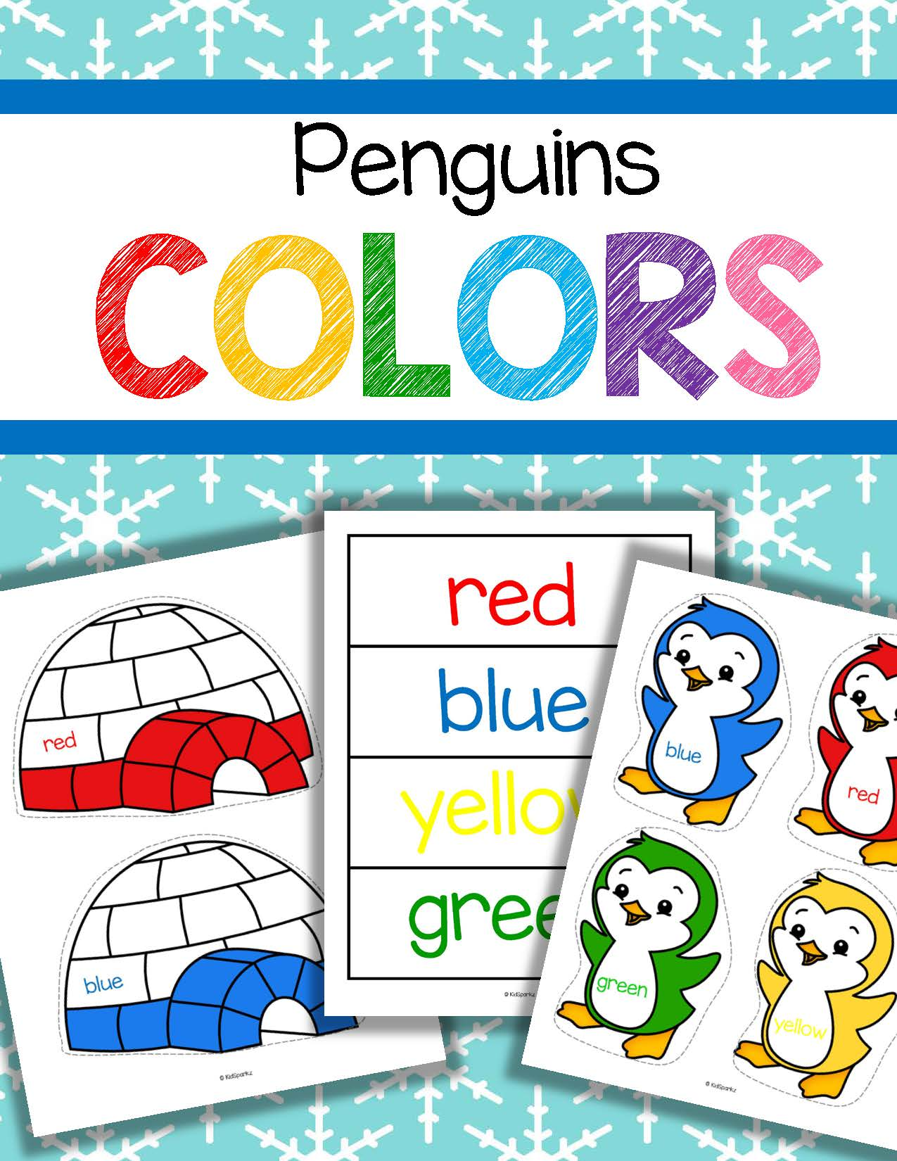Penguins And Igloos Color Matching Activities