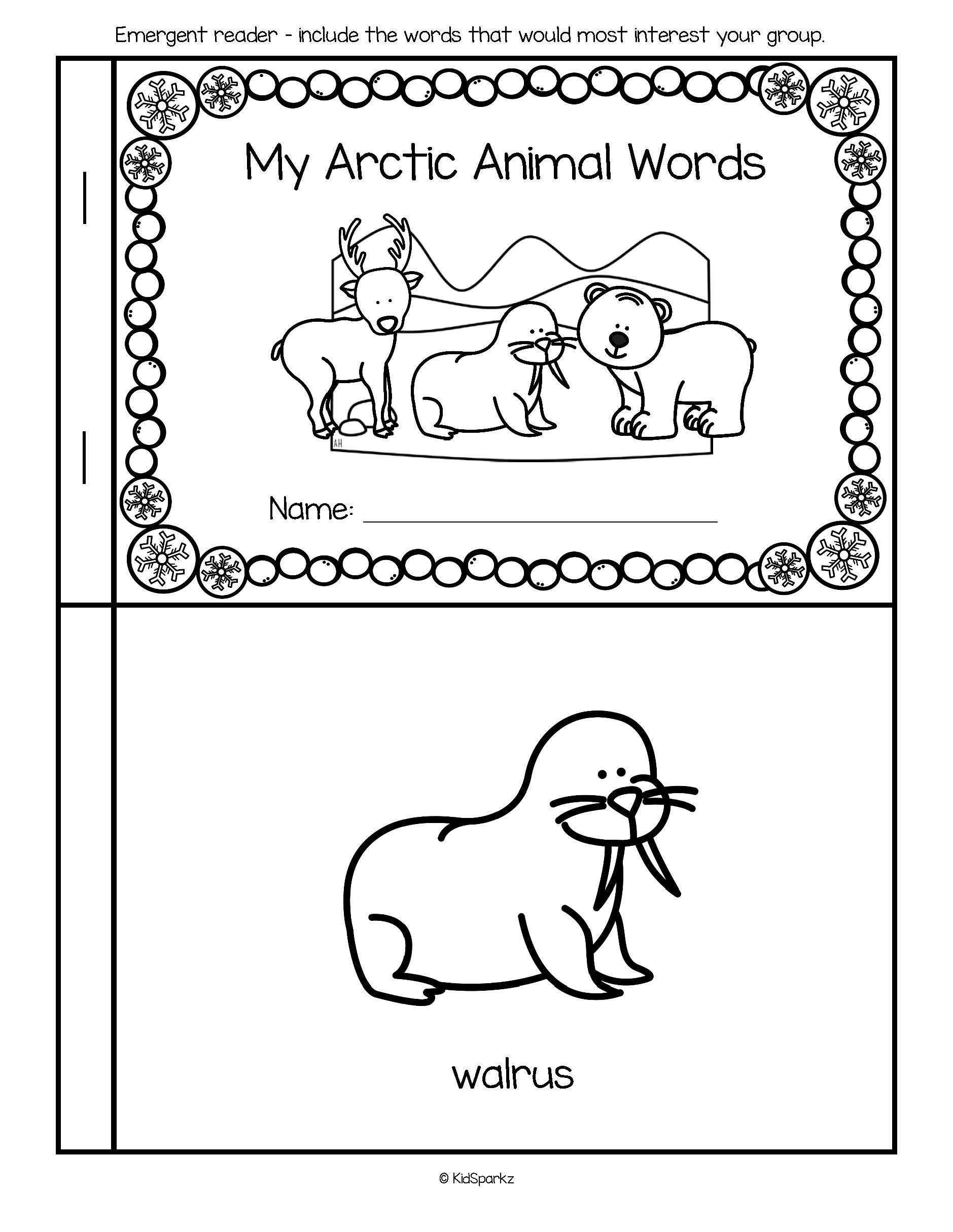 Arctic Animals Vocabulary Activities For Preschool And Pre K