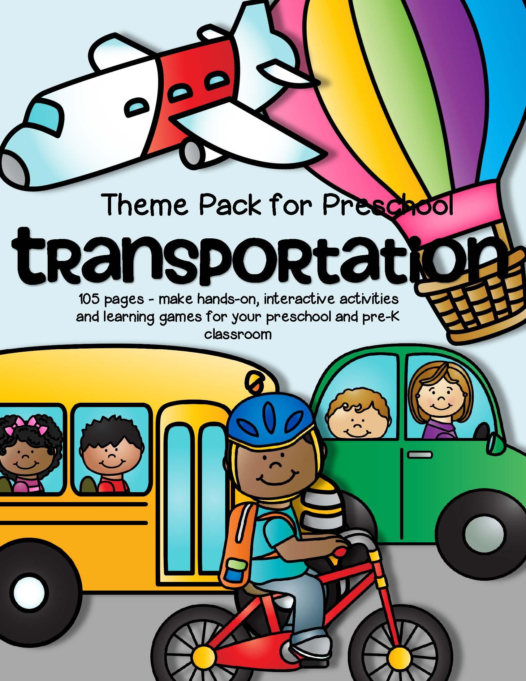 Transportation Theme Pack For Preschool