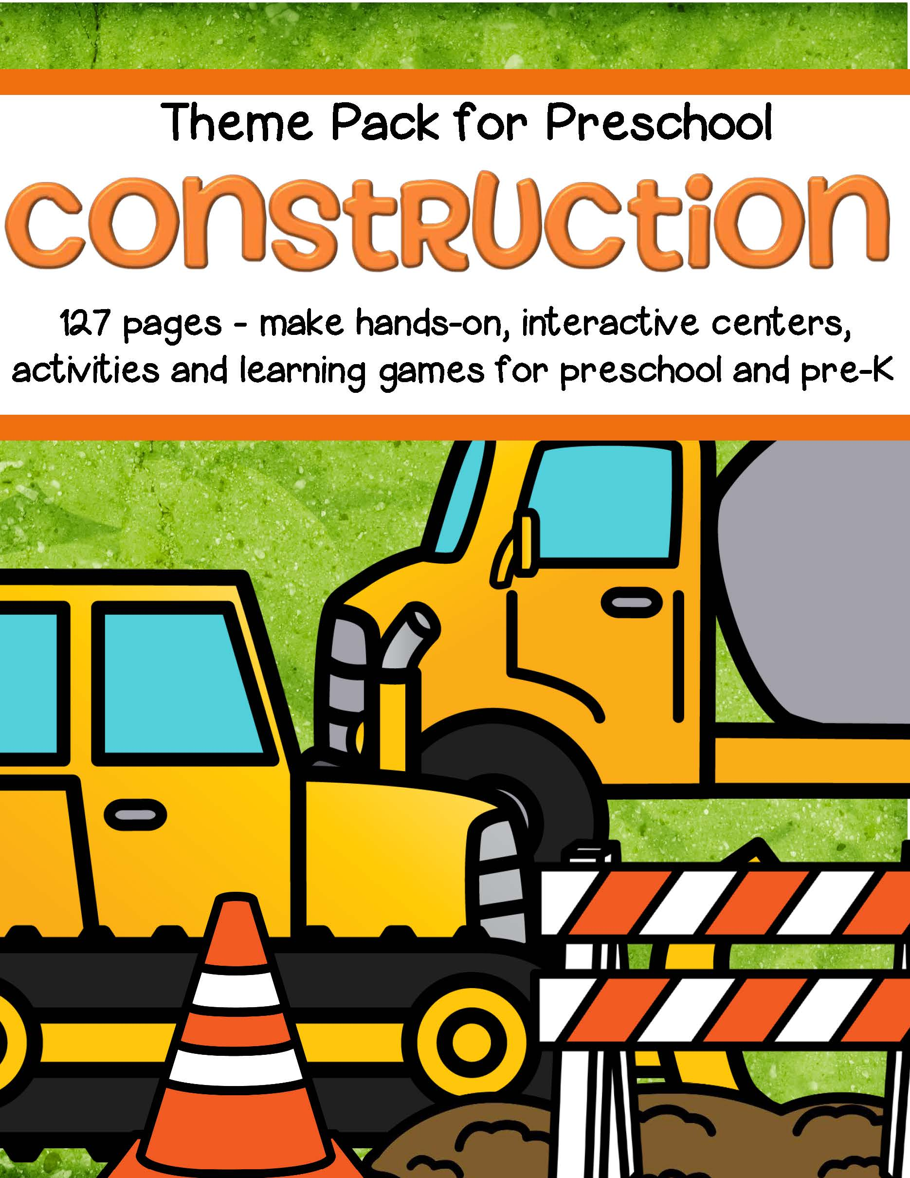 Construction Theme Math And Literacy Centers For Preschool