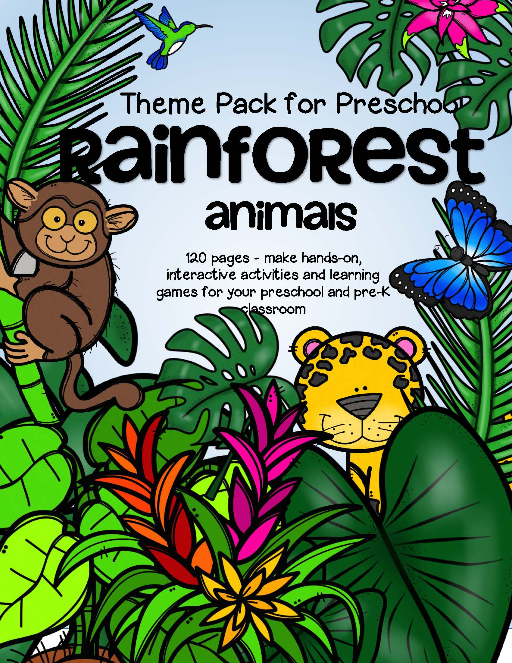 Jungle Worksheet Preschool