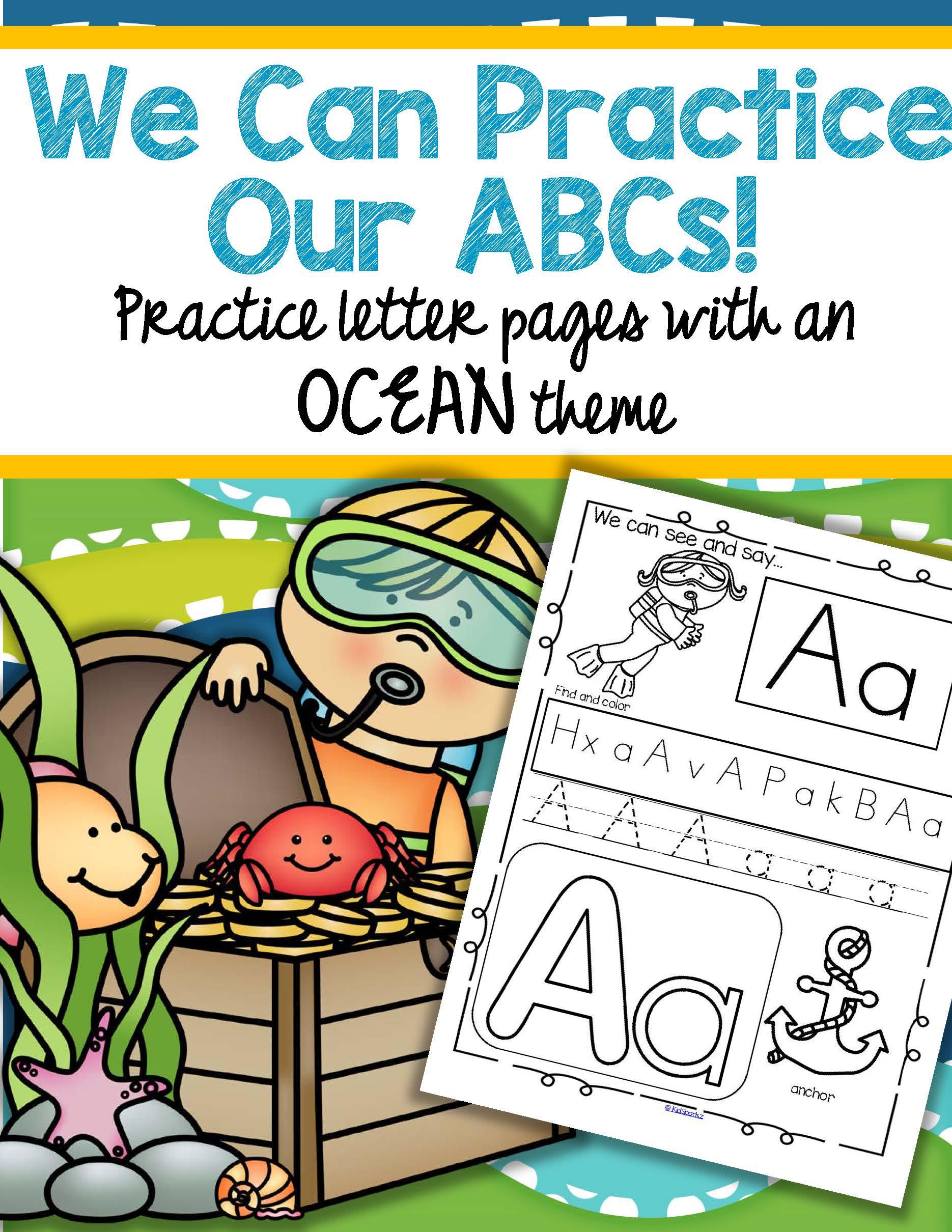 Ocean Alphabet Practice Printables