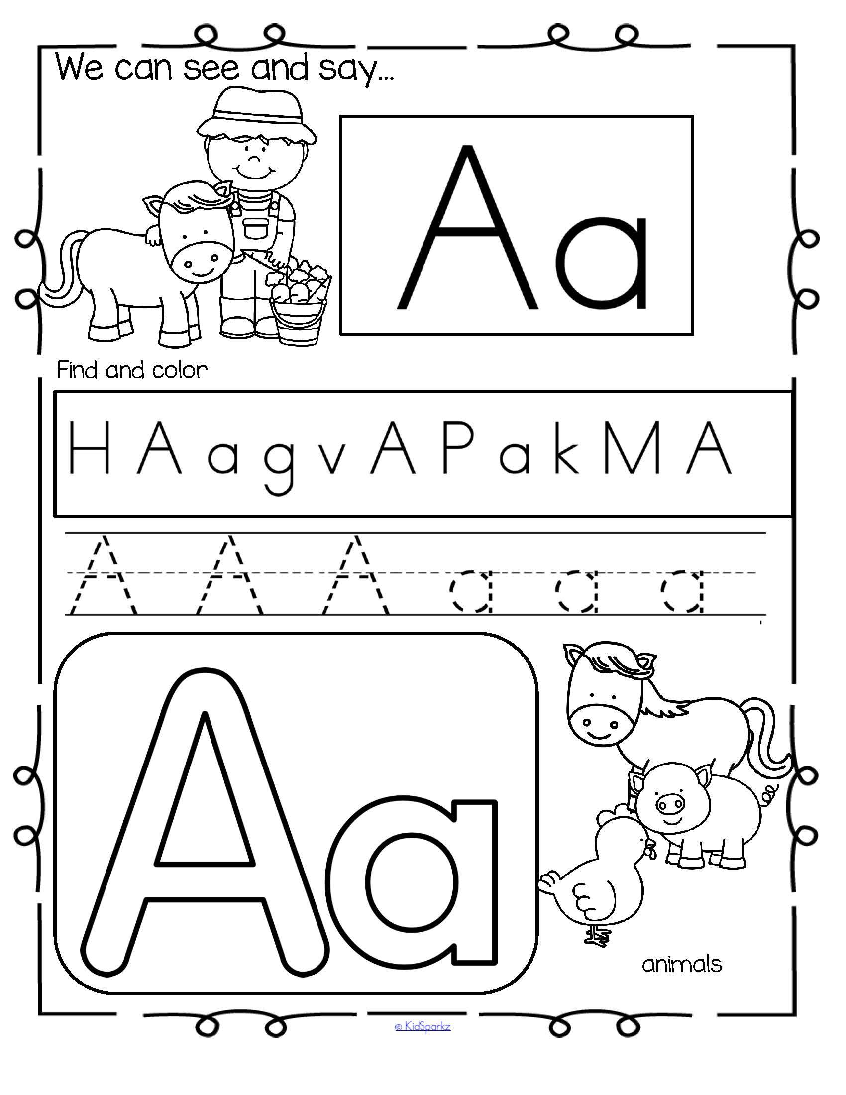 Farm Alphabet Practice Printables