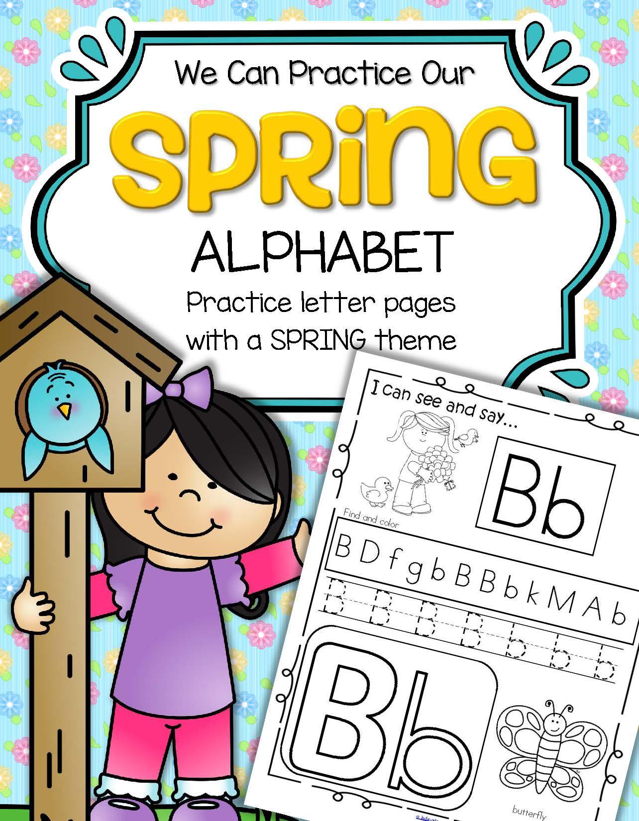 Spring Alphabet Practice Printables