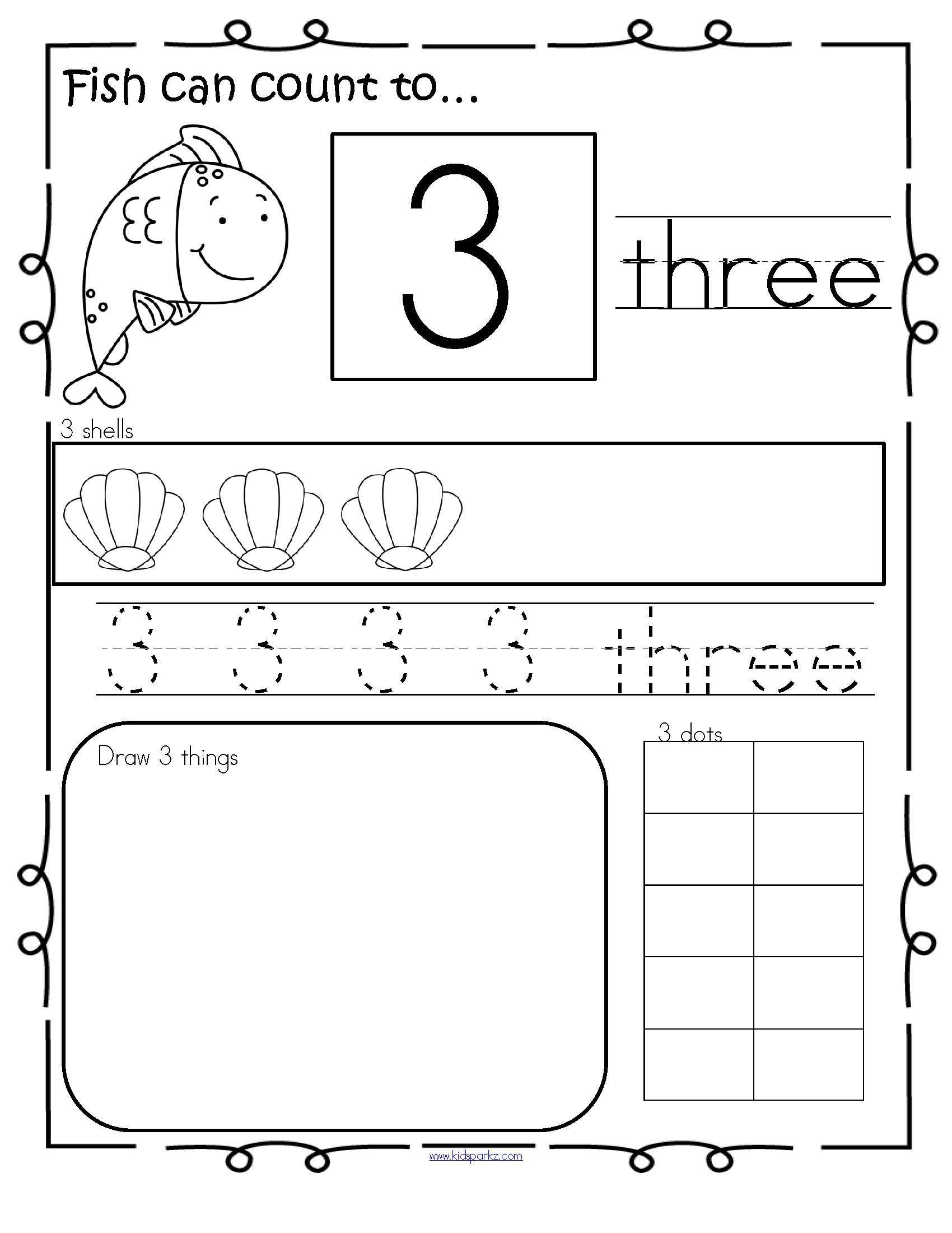 Ocean Number Practice