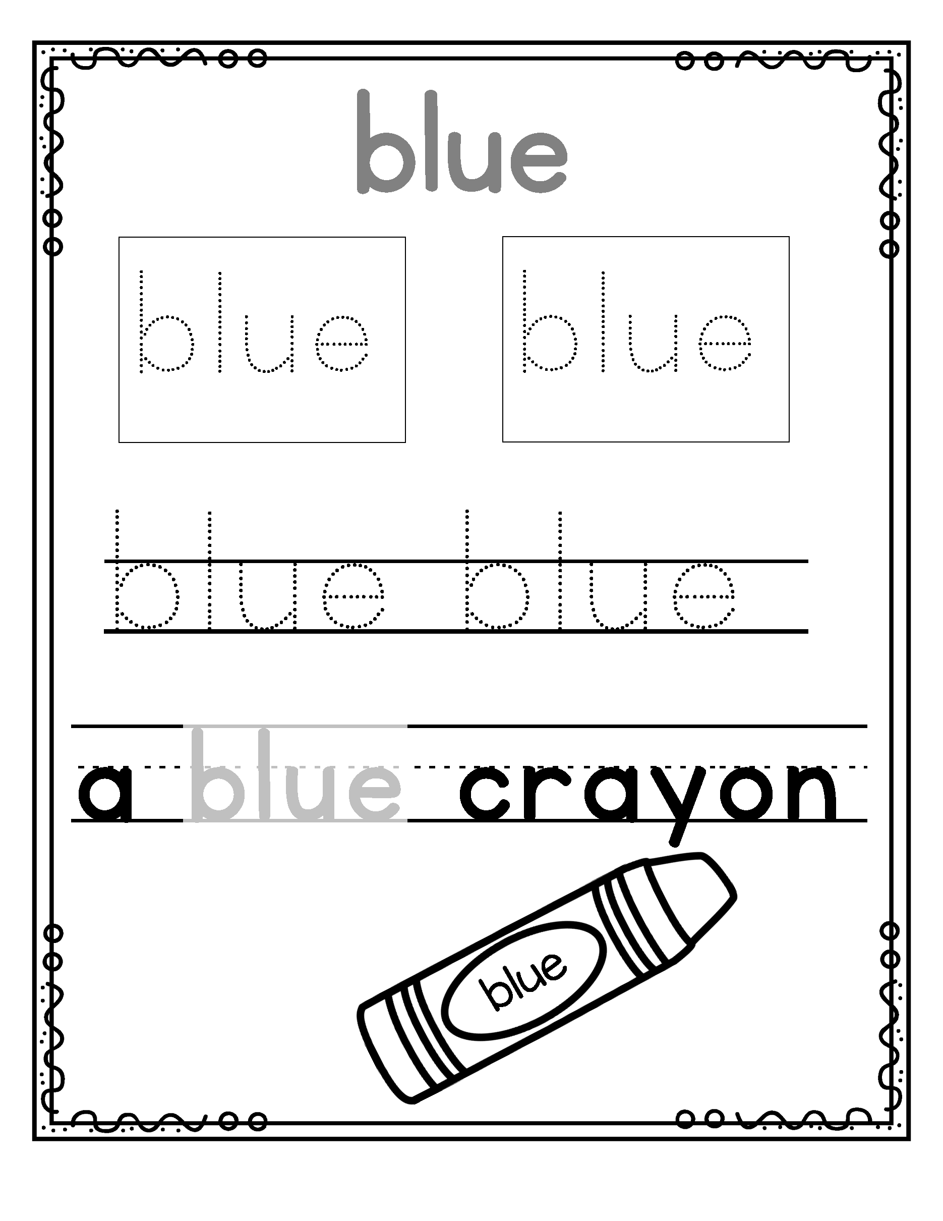 Dolch Pre Primer Sight Words Tracing Writing 3 Fine Motor