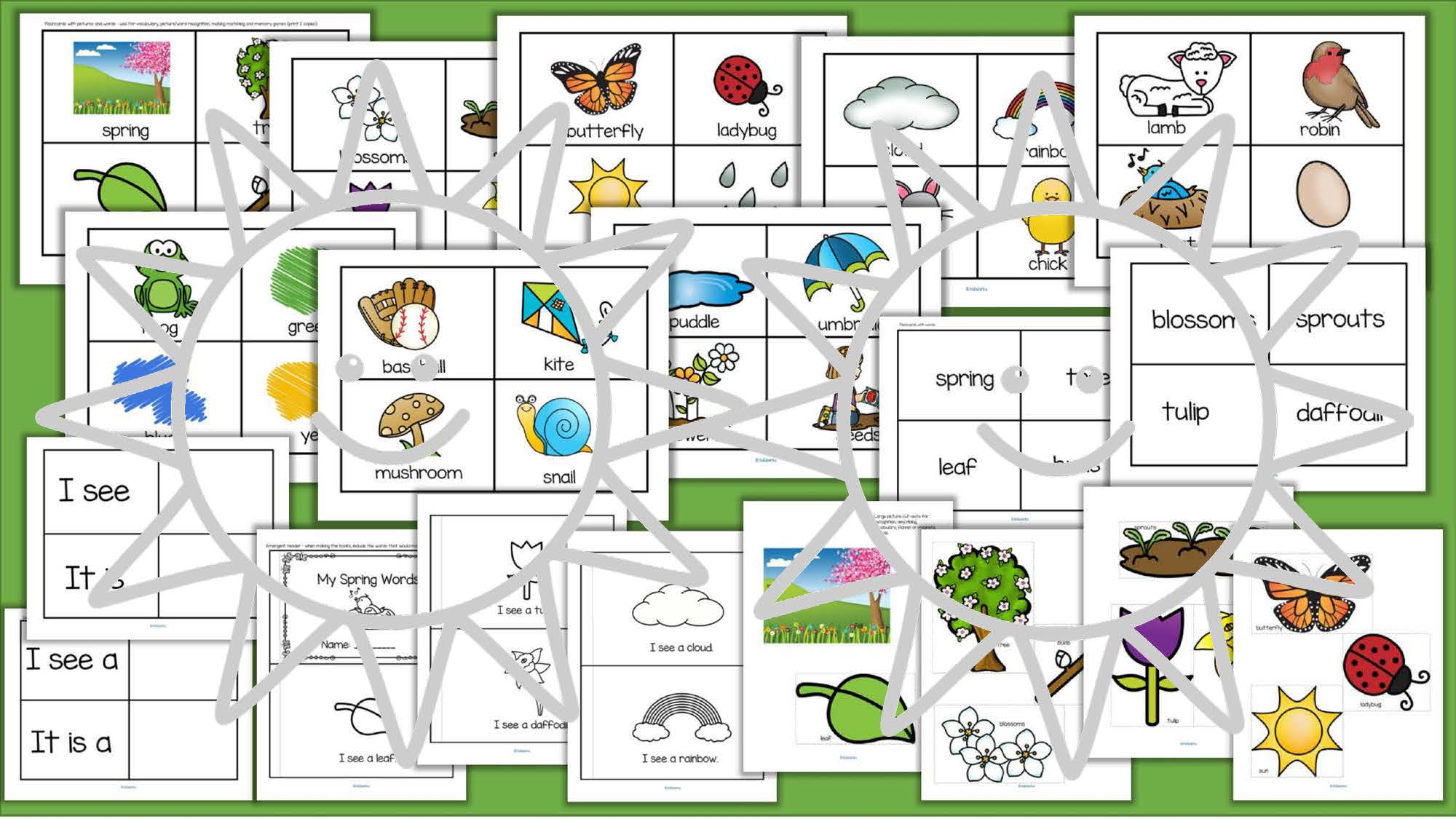 Spring Vocabulary Words Center Amp Group Activities For Preschool Amp Kindergarten