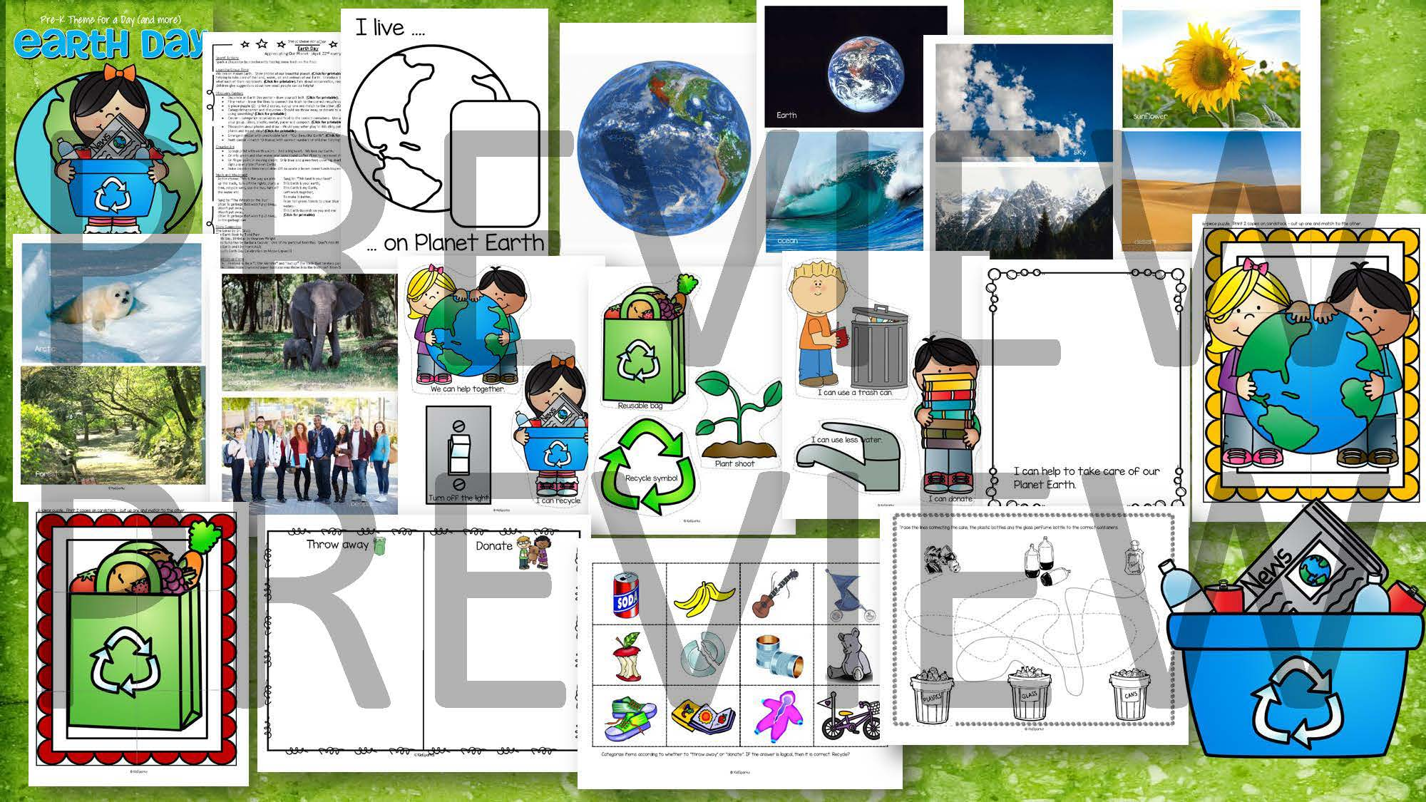 Earth Day Math Science Amp Literacy Centers And Activities