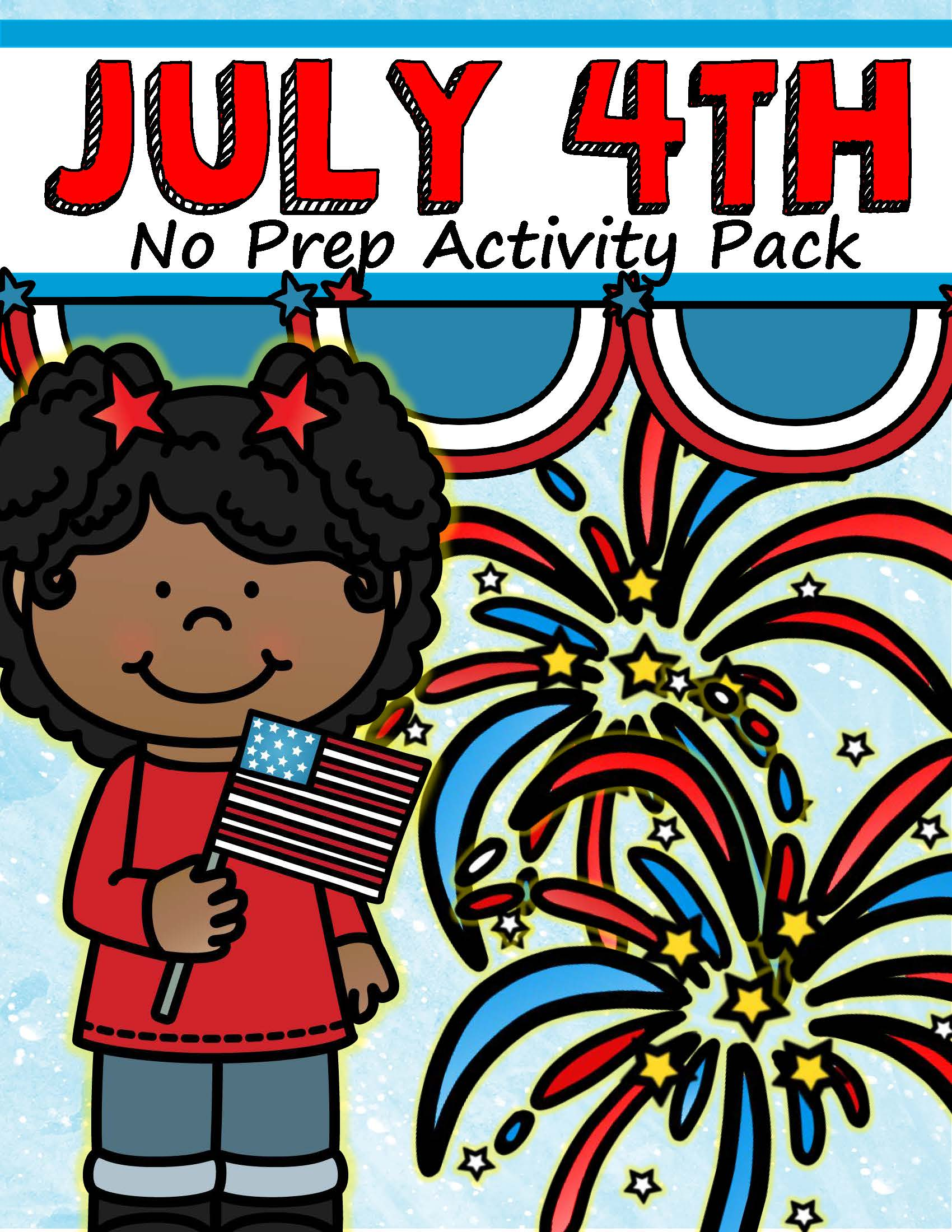 July 4th Activity Printables No Prep Preschool And