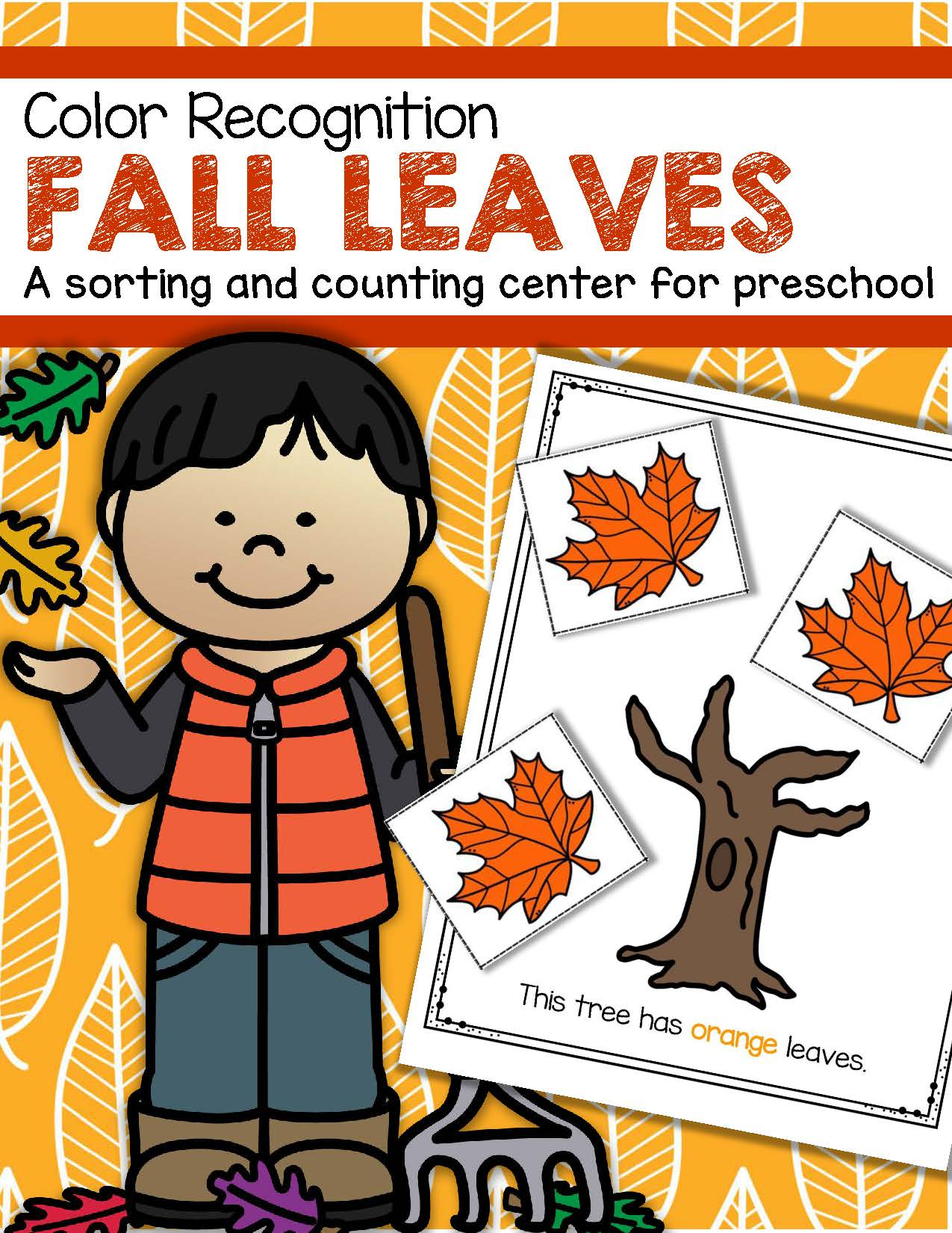 Fall Leaves Color Sorting Center For Preschool And Toddlers