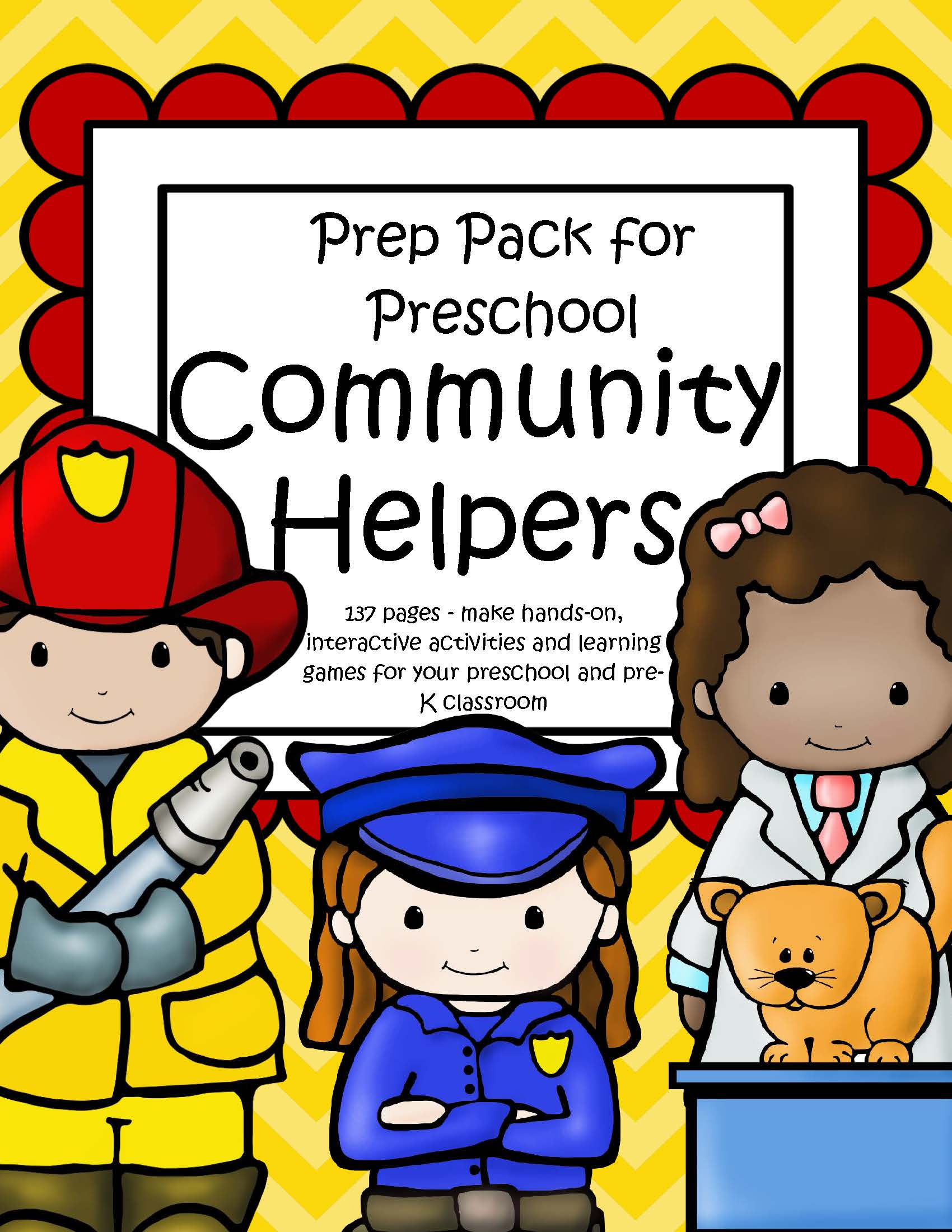 Community Helpers Theme Pack For Preschool