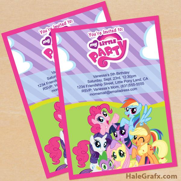 free my little pony birthday party