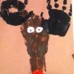 Hand/footprint Reindeer