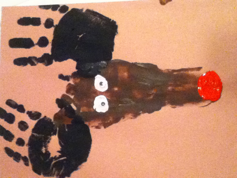 How To Make Rudolph The Red Nose Reindeer Footprint And