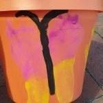 Footprint flowerpot
