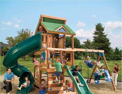 Arcadia I Ultimate Playground with Glider - The Ultimate Environmental Friendly Playground Set For Kids