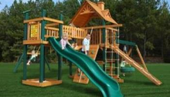 Gorilla Playsets Blue Ridge Pioneer Peak Swing Set