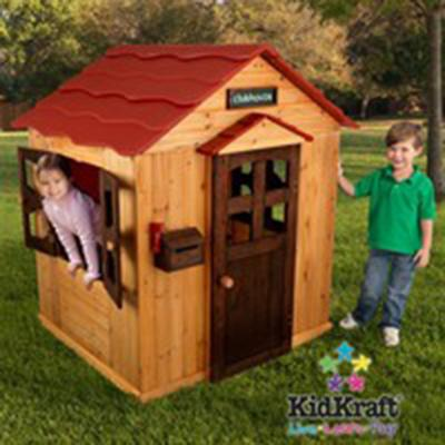 Kids Outdoor Cottage Clubhouse Playhouse