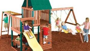 Swing N Slide Chesapeake Wood Swing Set