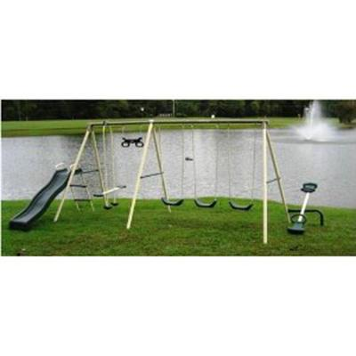 Flexible Flyer Fun Fantastic Swing Set with Plays