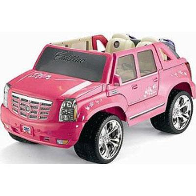 Barbie Pink Cadillac Escalade - Your Kids 5mph Speed Power Wheels Car