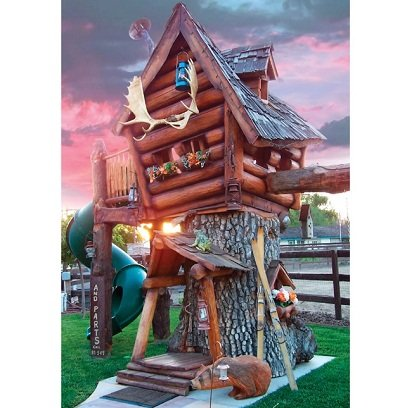 The Log Cabin Tree Lodge - A uniquely designed tree house for kids