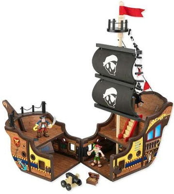 KidKraft Pirate Ship Play Set - A wooden play set designed perfectly for young explorers