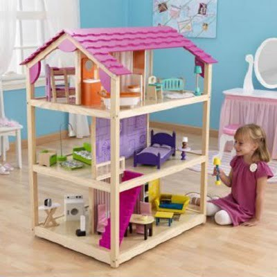 So Chic Deluxe Pretend Play Dollhouse - A colorful doll house designed to provide kids with some imaginative fun time