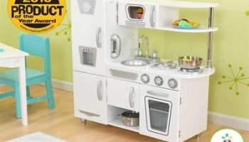 KidKraft White Vintage Kitchen Kids Pretend Play Set