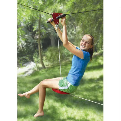 The Seated Backyard Zipline Kit - Allows young zip liners ...