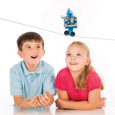 The Tightrope Walking Gyrobot Kit - Your kids construction kit that teaches them how to build motorized tightrope walking robot