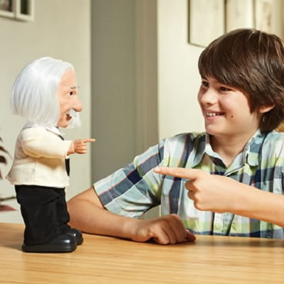 Your Personal Einstein Genius - A walking and talking Albert Einstein robot complete with different life-like expressions