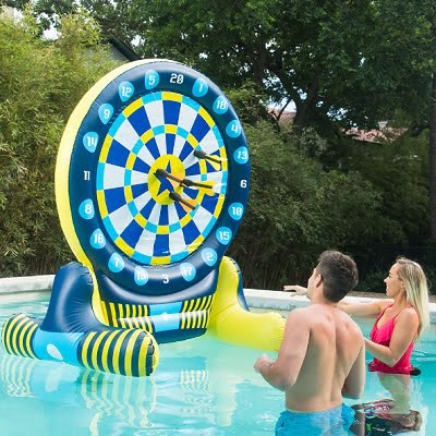 The 6 Feet Tall Inflatable Dartboard - challenges children and adults to score bullseye anytime anywhere