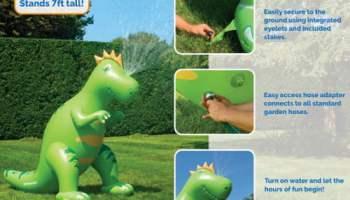 inflatable sprinklesaurus