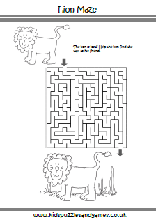 Lion Maze Kids Puzzles And Games