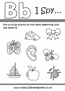 Letter B Kids Puzzles And Games