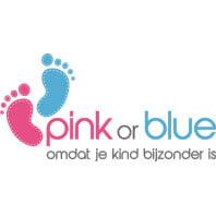pink or blue logo