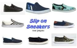 Slip on sneakers jongens